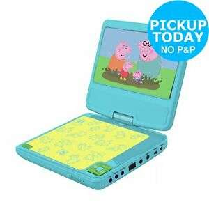 """Peppa Pig portable DVD player with 7"""" screen for £49.99 (click & collect only) at eBay / Argos"""