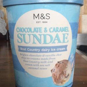 M&S Chocolate & Caramel Ice Cream Sundae Large Tubs - 75p @ Marks & Spencer (Meadowhall)