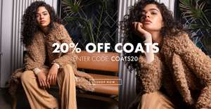 20% off Coats with voucher Code @ Glamorous