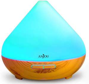 Anjou 300ml Essential Oils Diffuser / Cool Mist Waterless / 7 Color LED £15.99 Sold by Sunvalleytek-UK and Fulfilled by Amazon
