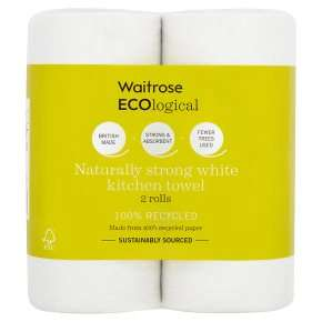 Waitrose - ECOlogical Kitchen Towels White 2s - £1.06