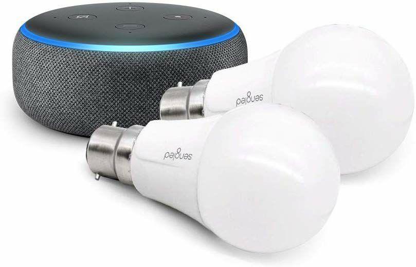Echo Dot (3rd Gen), Charcoal Fabric + 2x Sengled Smart WiFi Bulb, B22 £49.99 @ Amazon