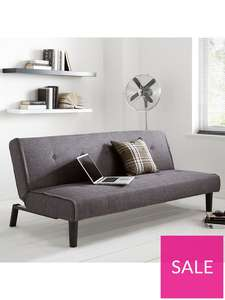 Dax Fabric Dark Grey/Blue Sofa Bed £129 / £143.99 delivered @ Very