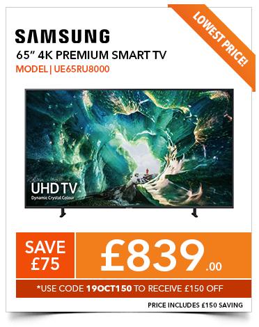 Samsung UE65RU8000 65 inch 4K Ultra HD HDR Smart LED TV with Apple TV app - £839 @ PRC Direct