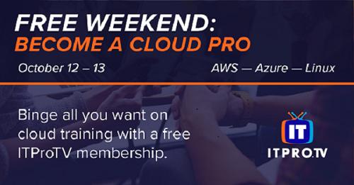 Free weekend Cloud Video Training: Become a Cloud Pro ( Amazon AWS, Microsoft AZURE & LINUX Courses) @ ITPRO TV