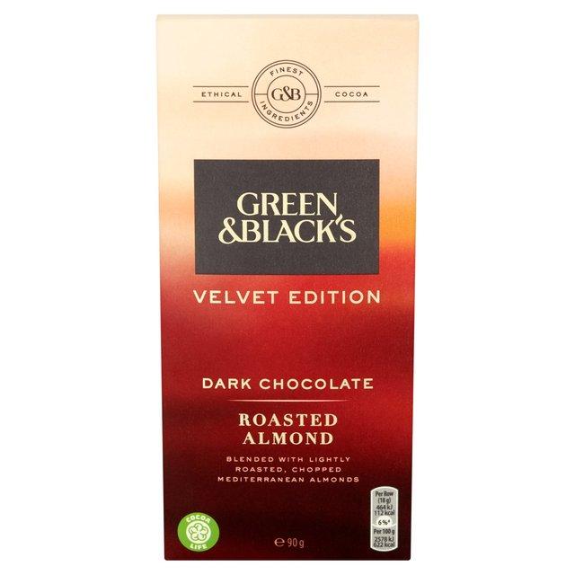 Green & Blacks Salted Caramelised Almond Chocolate Bloc bags 120g 69p @ Heron Foods
