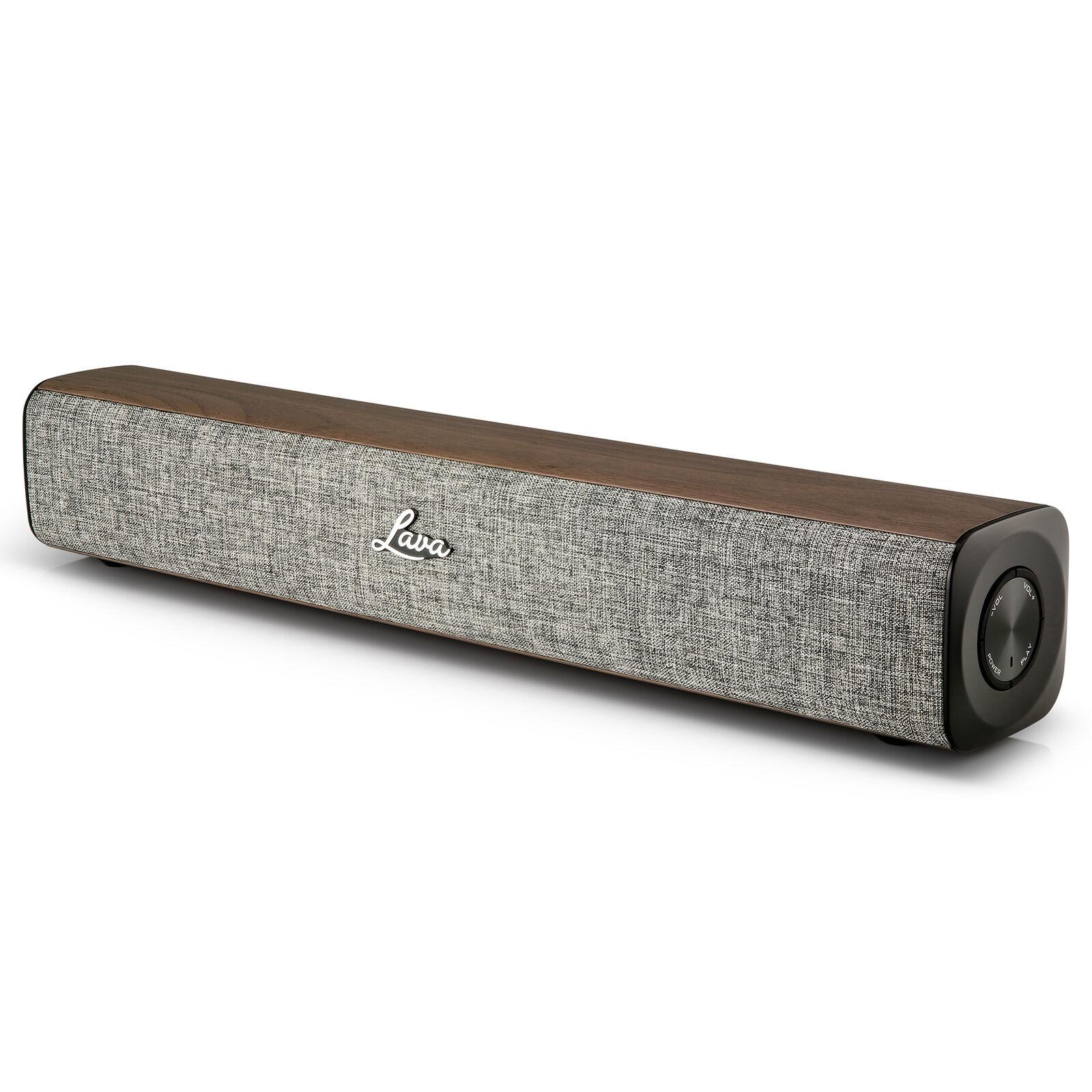 Lava Kahula Mini Sound Bar Portable Bluetooth Speaker - Grey/Walnut £24.99 at 3monkeys eBay