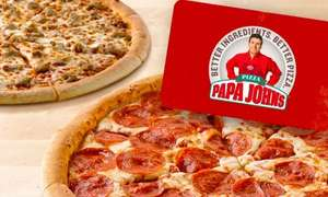 Papa John's 50% off a £20 spend -  Pizza Only