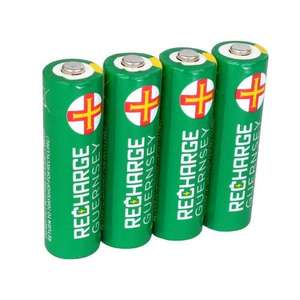 AA Rechargeable Batteries - NiMH 2000mAh, 4 Pack, £4.49 at 7dayshop