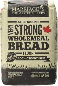 Marriages 100 Percent Canadian Very Strong Wholemeal Flour 1.5 Kg (Pack of 5) £5.47 @ Amazon (+£4.49 Non-Prime)