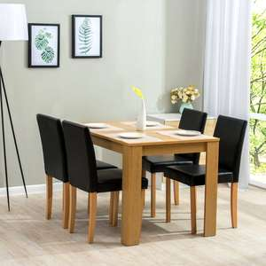 Boville Dining Set with 4 Chairs £139 Free Delivery @ Wayfair