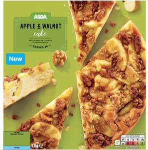 Asda apple and walnut cake 1.1kg £1 instore - Newton Mearns