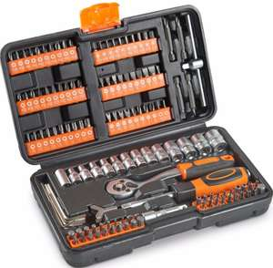 VonHaus Socket Set 130pc + Screwdriver Bit Set Including 72-teeth Ratchet Handle - £14.99 delivered @ domu eBay