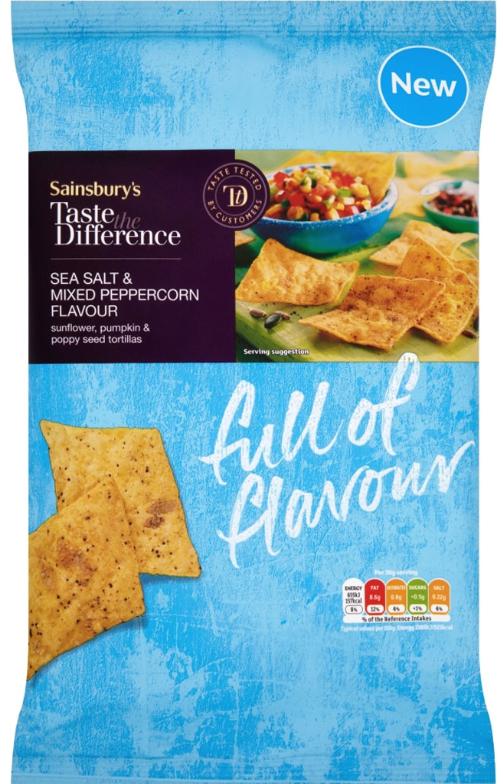 Taste the difference Sea Salt and Peppercorn Tortillas 20p @ Sainsbury's Aberdeen Berryden