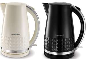 Morphy Richards 1.5L Dimensions Jug Kettle (Also Toaster £15.30) - Black / Cream - £15.30 with code + Free Click & Collect @ Robert Dyas