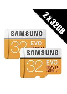 2 x Samsung Memory Evo 32GB Micro SDHC Card 95MB/s UHS-I U1 Class 10 with Adapter £8.50 Delivered / Single Pack £4.99 @ Base