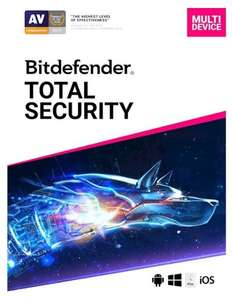 BitDefender Shop: Total Security 2020 up to 5 devices, 1 year - £29.99