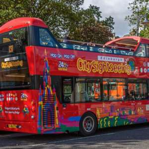 Kids go free with paying adult on Hop On Hop Off Sightseeing bus tour in Edinburgh during October break @ City Sightseeing