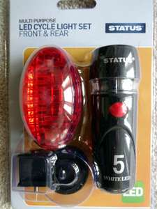 LED bike/cycle light set, £2.99 @ Home Bargains, instore (Lincoln), probably national.