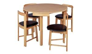 Argos Home - Alena Solid Wood Dining Table & 4 Oak Chairs - £99 (Free C&C)