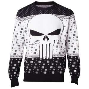 Marvel The Punisher Christmas Knitted Jumper - Black £17.98 delivered @ Zavvi