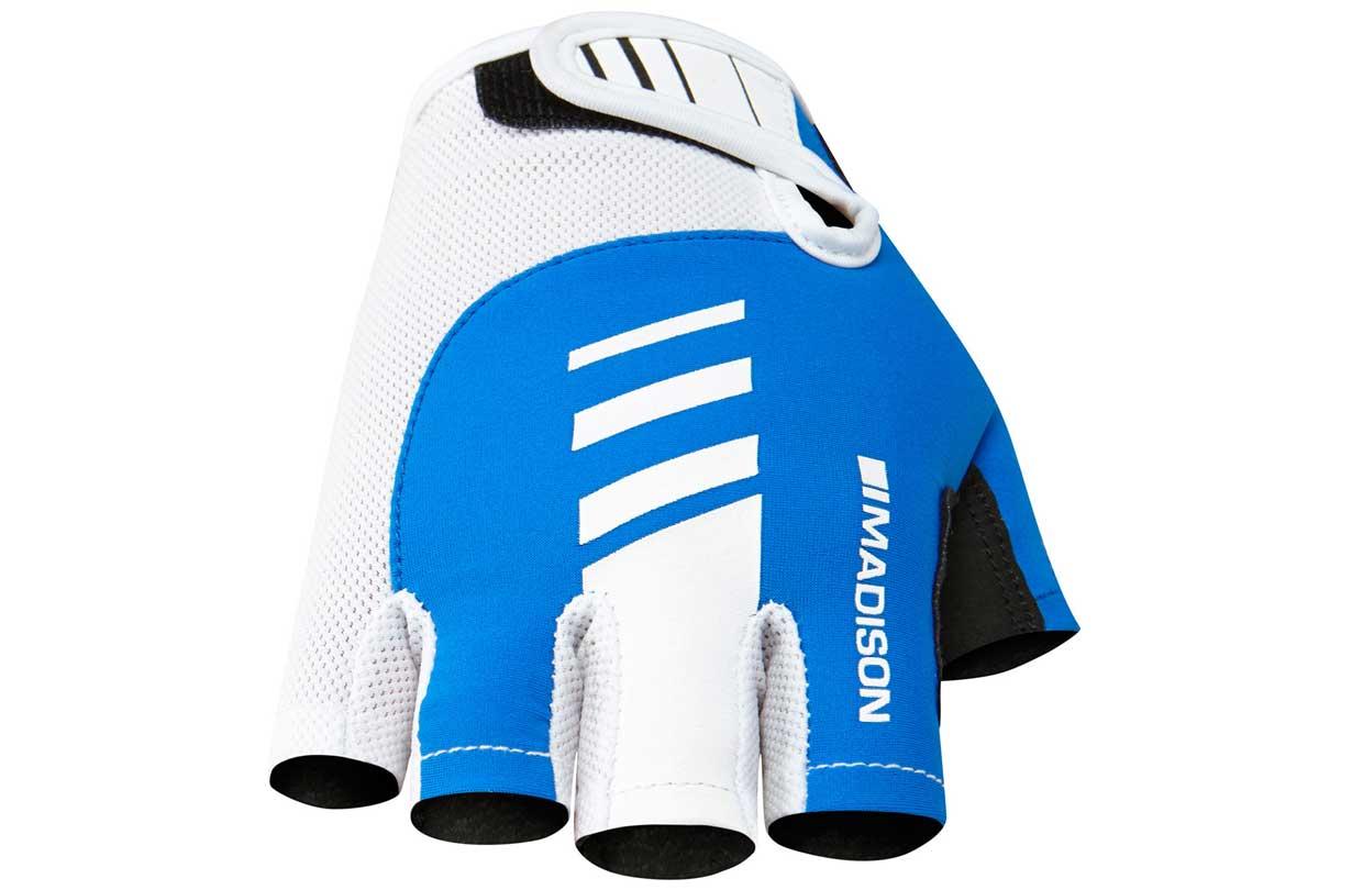 Evans Cycles Mens Madison Peleton Cycling Mitts/Fingerless Gloves Medium blue/white down to £4 (Free C&C)