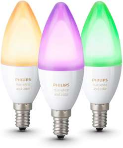 Philips Hue White and Colour Ambience 3-Pack (E14/B22) £71.99 @ Amazon