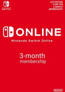 Nintendo Switch Online 3 Month (90 Day) Membership Switch for £3.69 @ CDKeys