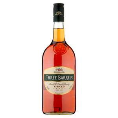 1 Litre Three Barrels Rare Old French Brandy VSOP £19 at Asda