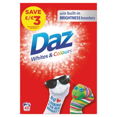 Daz Washing Powder Whites & Colours 40 Washes £4 @ Asda