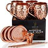 Moscow Mule Copper Cups Includes 4 Glasses 4 Coasters 4 Straws 1 Measuring Cup @ Amazon Warehouse Like New £18.60 Prime £23.09 Non Prime