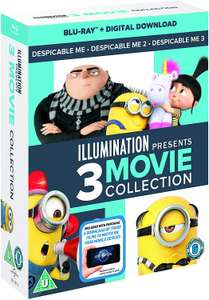 Despicable Me 1-3 Blu Ray + Google Movies codes £7.99 with Prime (£10.99 without prime)