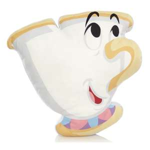 Disney 40x40cm Beauty and The Beast Chip Cup Cushion £5.10 – Free Click & Collect- Discounts at at Basket @ George