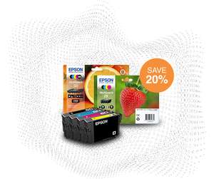 20% off Multi Packs of Ink 10% off Single packs of Ink with Voucher Code @ Epson