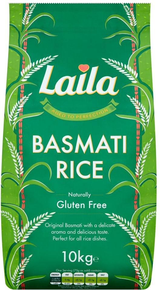 Laila Basmati Rice 10 kg £11 @ Asda