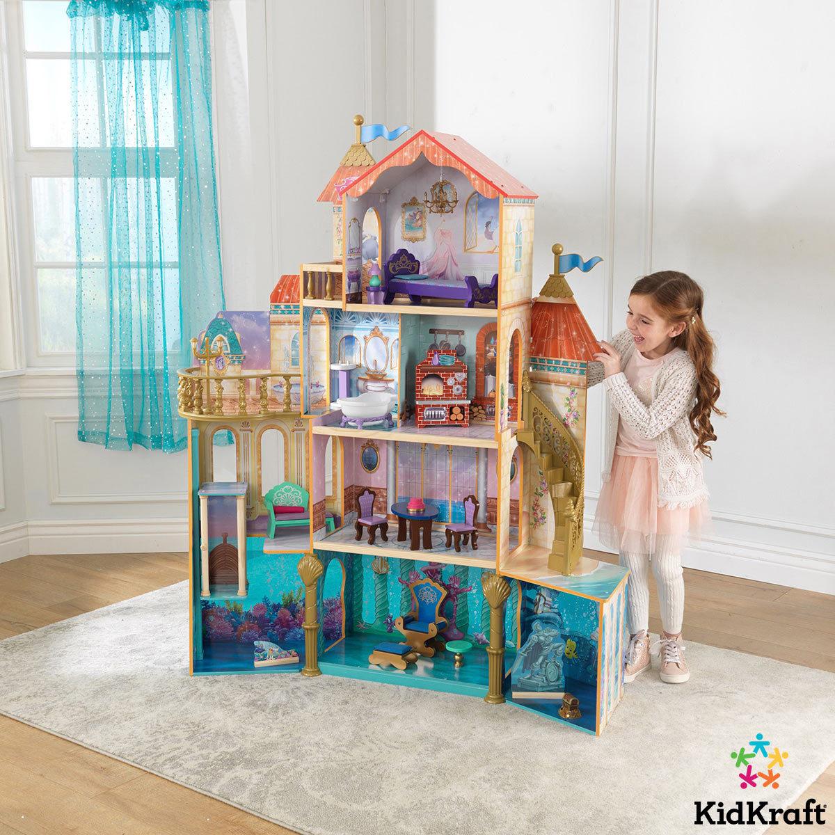 KidKraft Disney® Princess Ariel Undersea Kingdom 5ft Dollhouse + 20 Pieces of Furniture £129.89 @ Costco