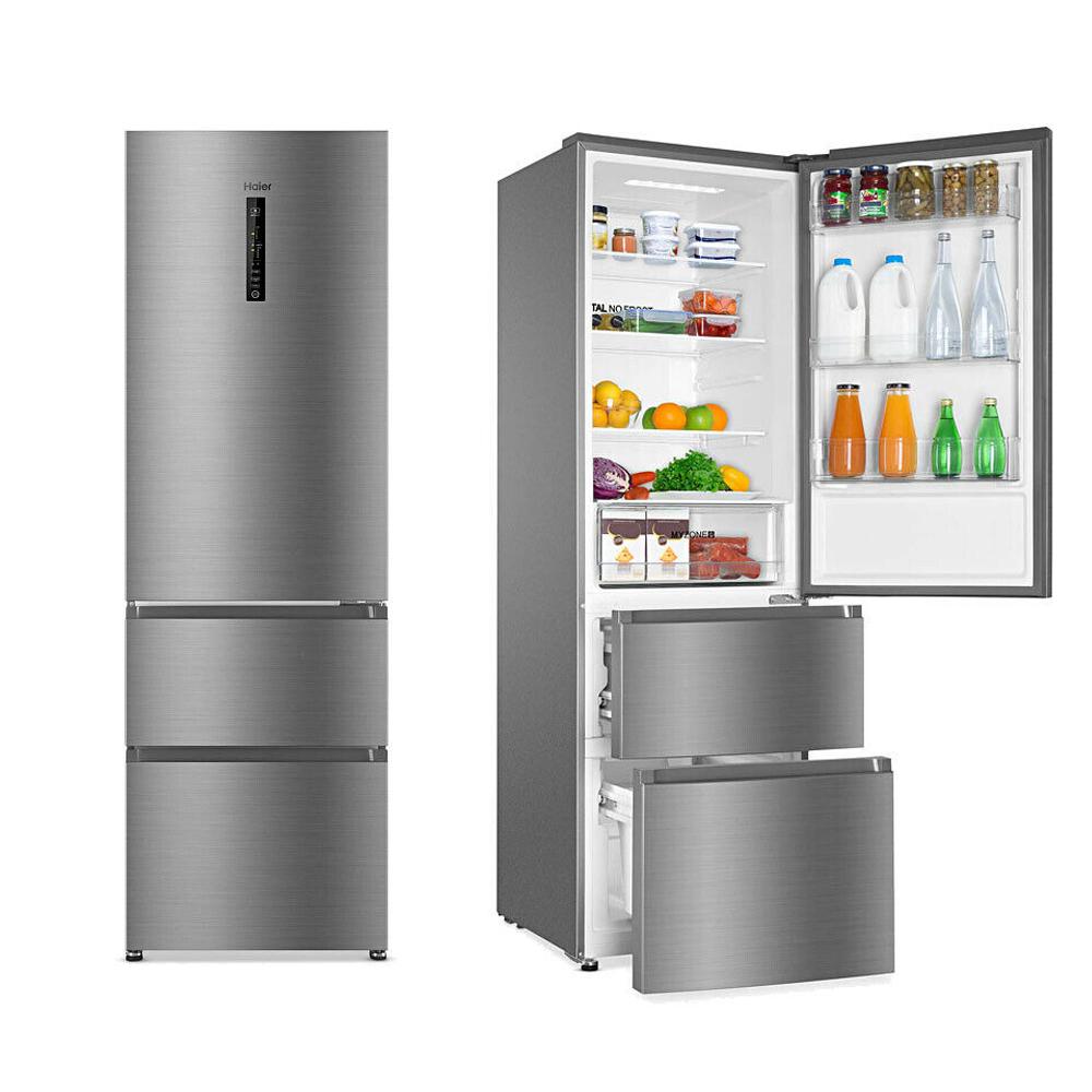 Haier  60cm A+ Total No Frost  Fridge Freezer In Silver - AFE635CHJ + 2 Year Warranty £424 Using Code @ Cramptonandmoore / eBay