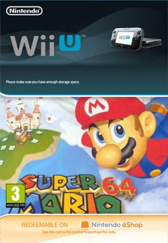 Super Mario 64 Digital Download Code for Wii U £6.85 @ ShopTo