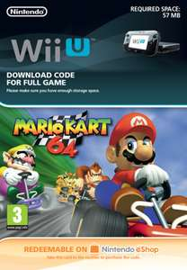 Mario Kart 64 Digital Download Code for Wii U £6.85 @ ShopTo