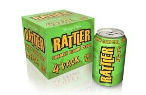 RATTLER Cornish Cloudy Cider 4x330ml £1.99 at Home Bargains Ringwood Rd Bournemouth