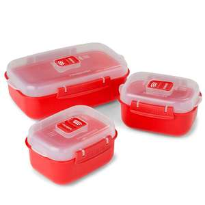 Sistema Microwave Heat and Eat 3 Pack, Red/Clear, Pack of 3 £7.89 + £4.49 delivery Non Prime @ Amazon