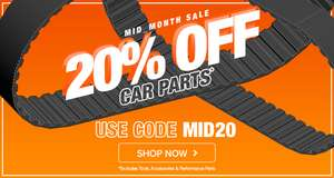 20% off anything from headlight bulbs to battery @ CarParts4Less