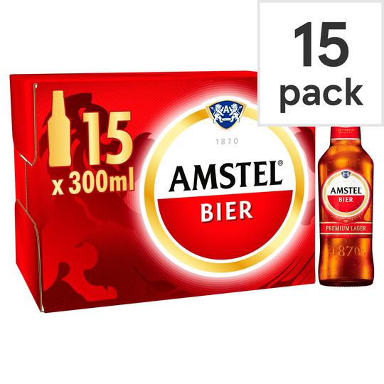 Amstel Lager Bottle 15 X 300ml for £7 @ Tesco
