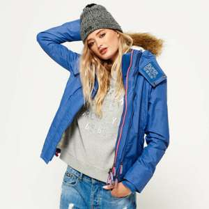 New Womens Superdry Hooded Fur Sherpa SD-Wind Attacker Jacket £21.59 delivered with code @ eBay / Superdry