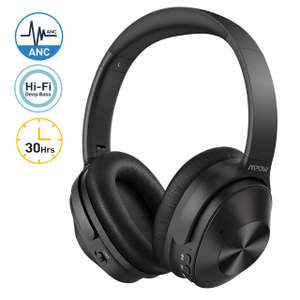 Mpow H12 Hybrid Active Noise Cancelling Bluetooth Headphones £33.99 Delivered Sold by Mpow Store and Fulfilled by Amazon.
