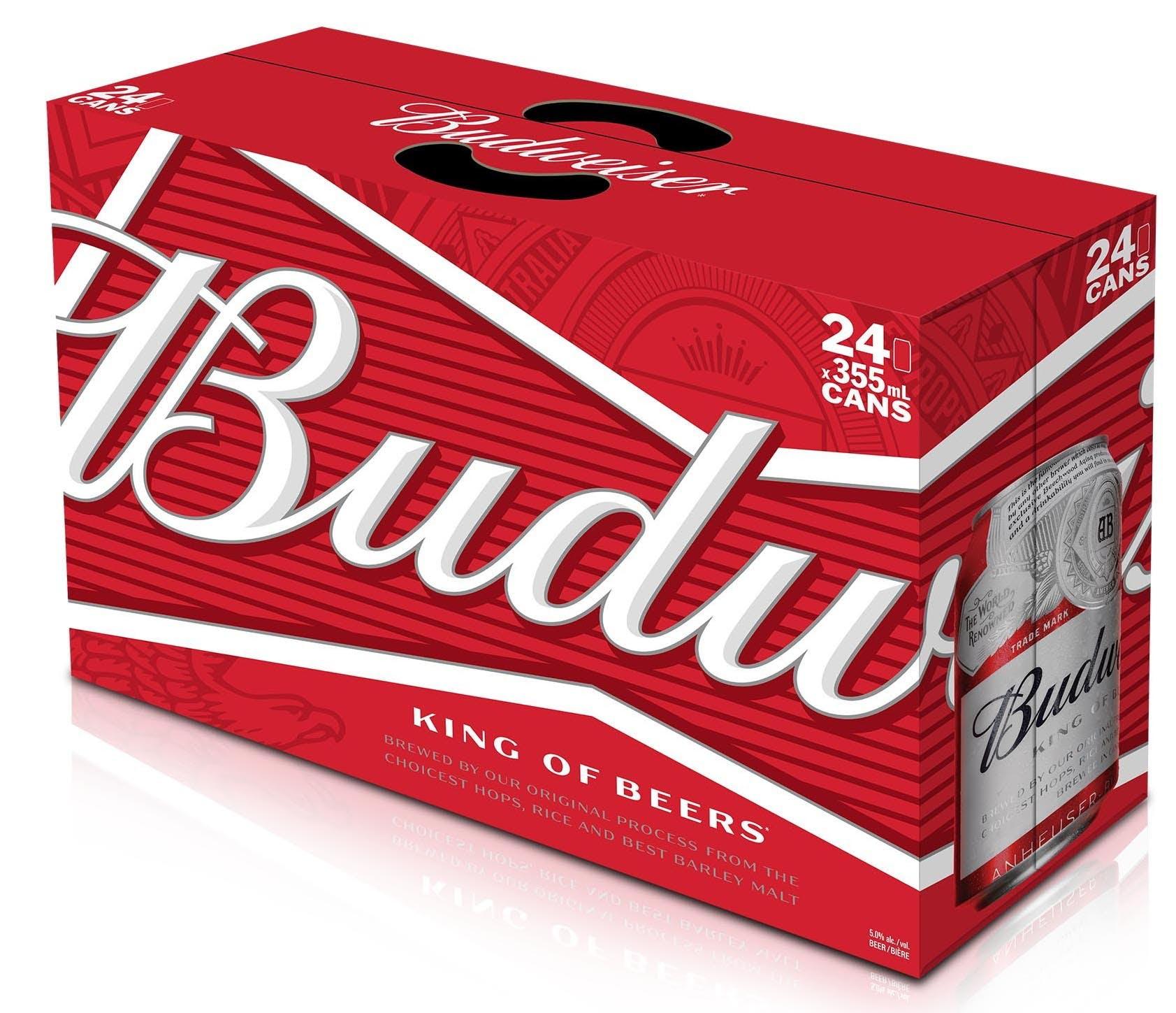 24 Budweiser Beer £9.60 in Asda, Marus Bridge