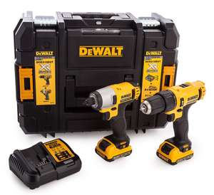 DEWALT DCK218D2T 10.8v Combi Drill and Impact Driver Kit with 2x2ah Batteries, Charger & TSTAK Case - £106.67 Delivered @ ToolStore UK