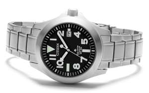 Citizen BN0118-55E Titanium Eco-Drive Bracelet Watch - W3921 £329 @ F Hinds