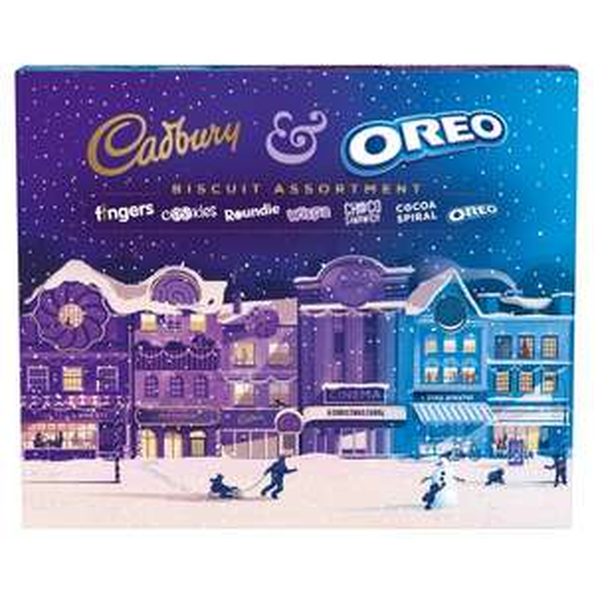 Cadbury & Oreo Christmas Biscuit Assortment 500G £3 at Tesco