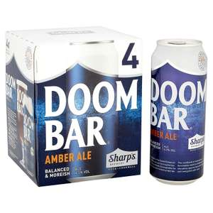Sharps Doom Bar Exceptional Amber Ale 24 X 500ml Cans  £24 Amazon